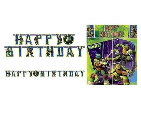 Amazon.com: Teenage Mutant Ninja Turtles Banner and Scene ...