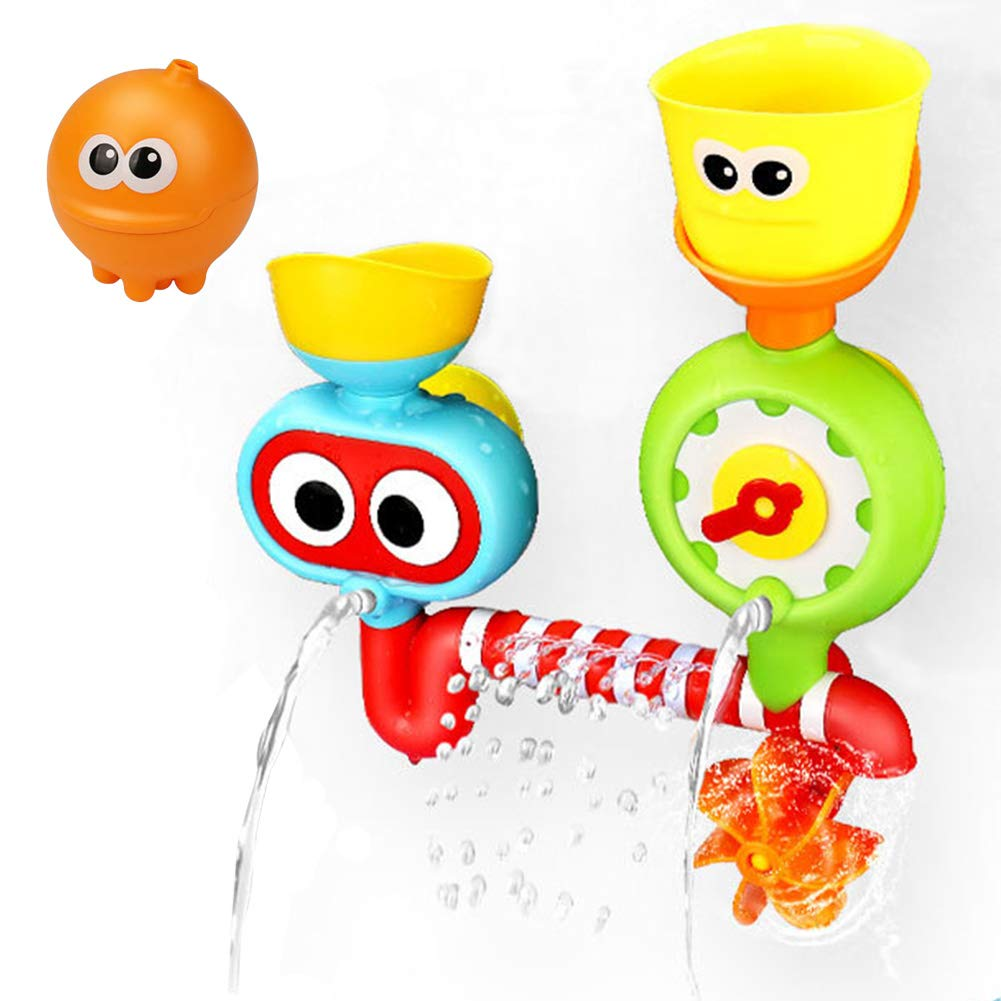 Baby Bath Toy - Waterfall Water Station with Two Stackable Cups by Enhance Your Baby's Thinking Ability and Creativity Great Toy for Boys - Girls-Toddlers Dr.OX