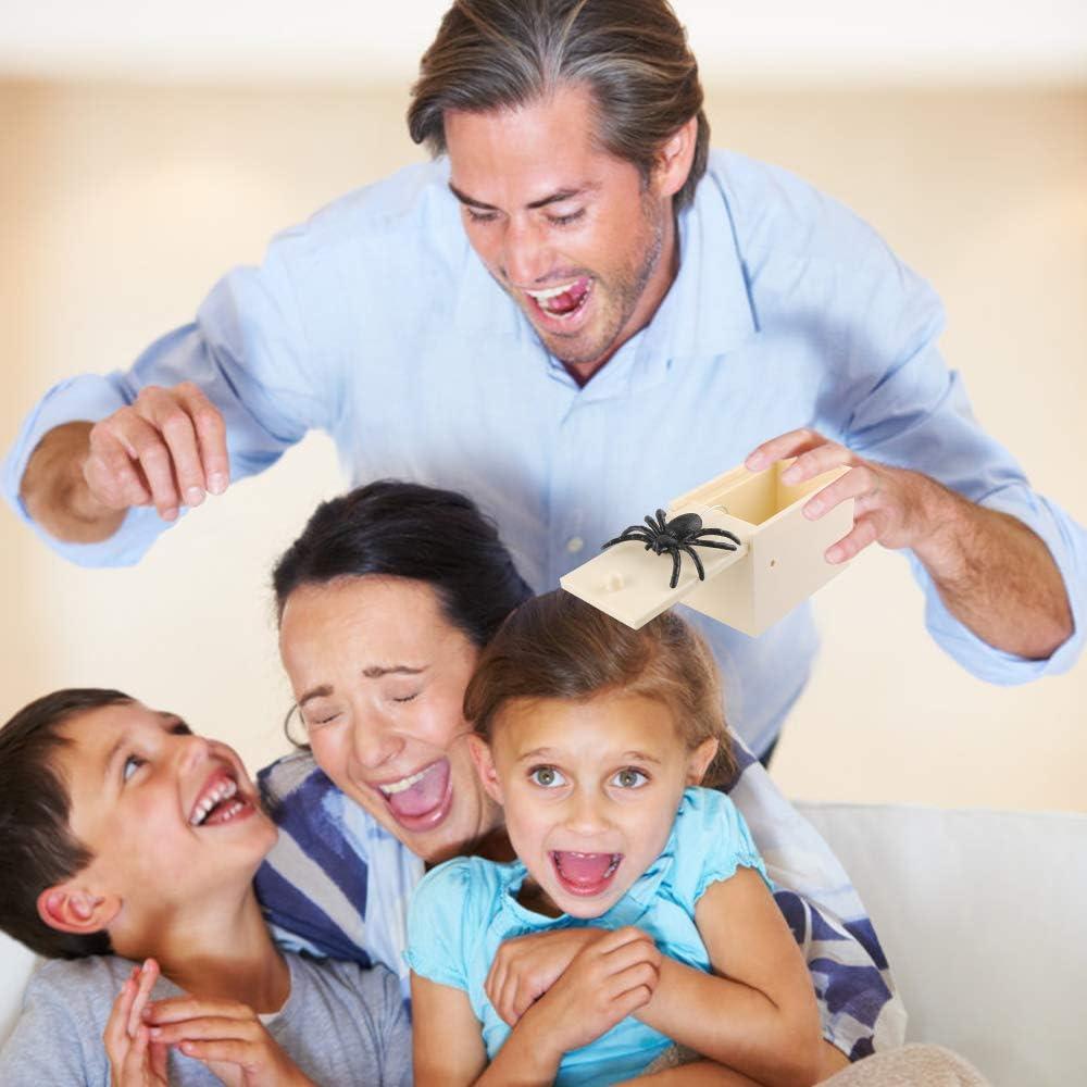 Prank Scare Spider f/ür Boxscherzartikel kinder Spinne in Box Lustige /Überraschung Gag f/ür Kinder Erwachsene Party Favors Gifts Streich Spinne,/überraschungs Box Mit Spinne