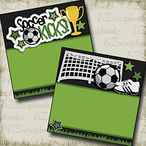 SOCCER KICKS NPM - Premade Scrapbook Pages - EZ Layout (Soccer Scrapbook Page)