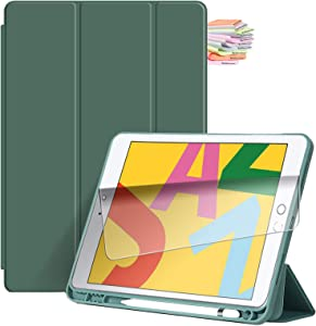 Billionn for iPad 9.7-inch Case (2018 iPad 6th / 2017 iPad 5th Generation), with Pencil Holder & Auto Sleep/Wake, Also Fit iPad Air 2 / iPad Air - Dark Green