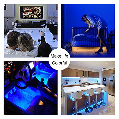 LED Strip Lights, USB TV Backlight Kit RGB Bias Lighting with Remote(78inch/2m), Ambient Home Theater Light, Accent Lighting to Reduce Eye Strain and Increase Image Clarity by Searik (Image #5)