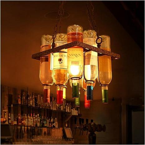 CHSUKHO Personalizado creativo retro colgante lámparas bar ...