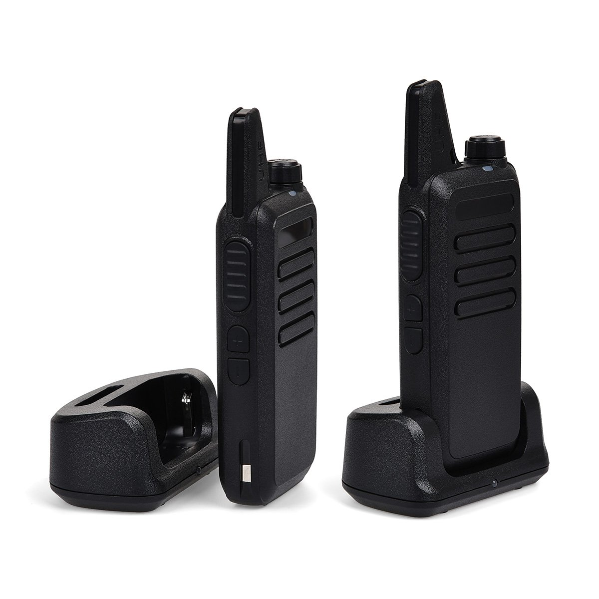 Swiftion Rechargeable Walkie Talkies for Hunting Long Range 2 Way Radio Walky Talky Rechargable Professional interphone for Trave for Police 16 Channel 2 Way Radios with Charger (Pack of 2) by Swiftion (Image #2)