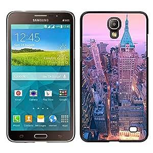 Samsung Galaxy Mega 2 / SM-G750F / G7508 Único Patrón Plástico Duro Fundas Cover Cubre Hard Case Cover - Ny Nyc New York Architecture Building