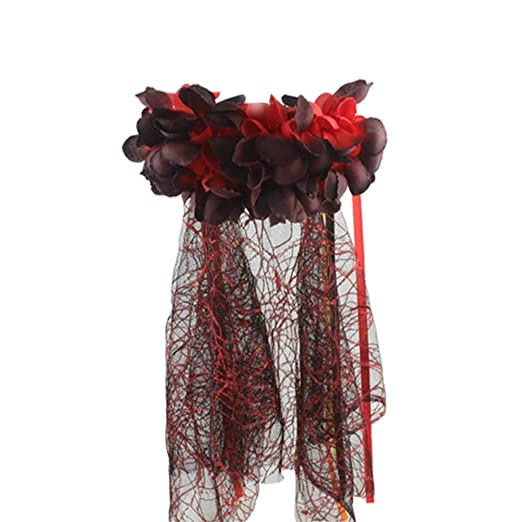Blanchel Diadema de flores artificiales de Halloween Diadema de ...