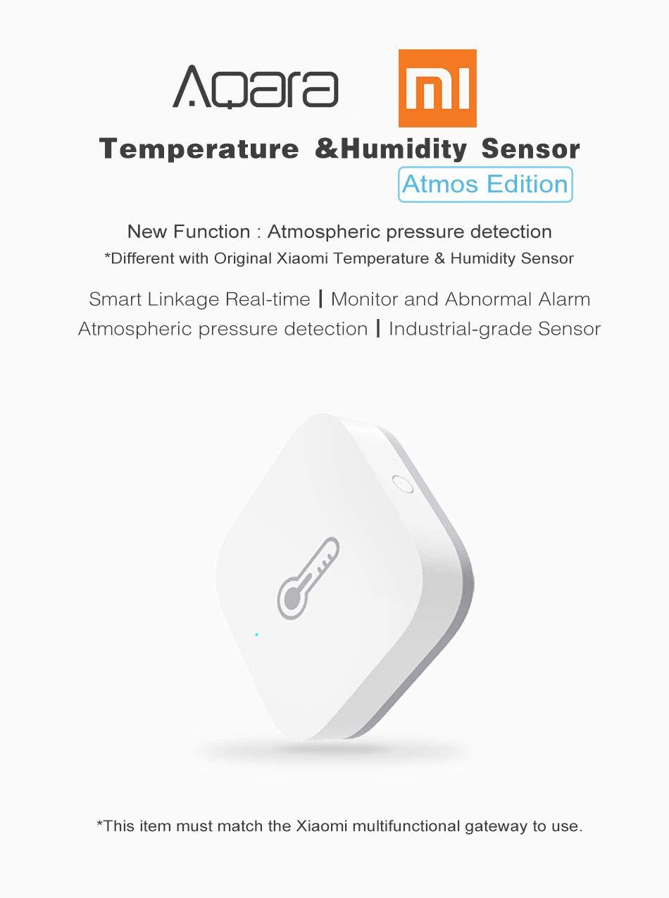 nziomarket Sensor de temperatura y humedad Xiaomi Aqara para ...