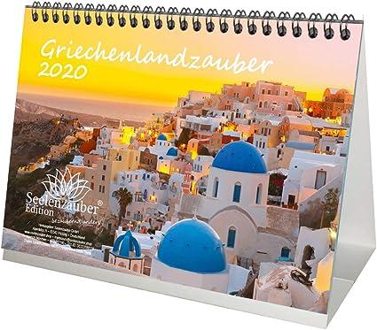 When Is Christmas In The Greek Calendar 2020? Greek Magic DIN A5 Table Calendar 2020 Greece Gift Set Includes 1