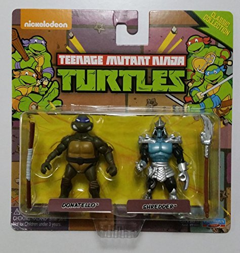 Teenage Mutant Ninja Turtles Classic Collection Donatello & Shredder Miniature Figures]()