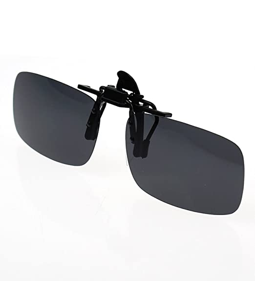 9d97f09de1d Zando Polarized Clip-on Driving Sunglasses For Men Metal Clip Lenses Glasses  Fishing Over Prescription