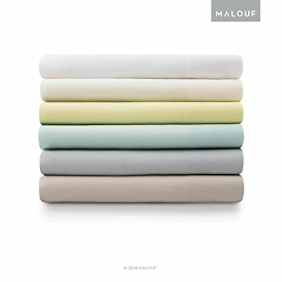 MALOUF 100% Rayon from Bamboo Sheet Set - 4-pc Set - Queen