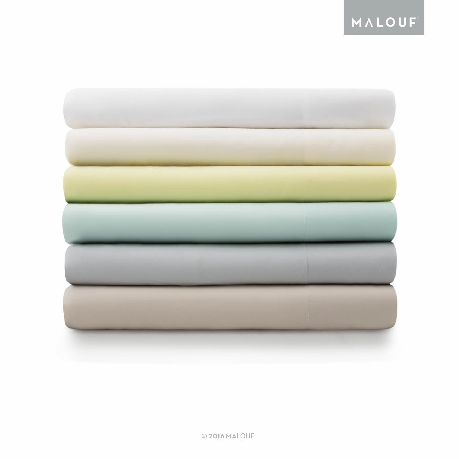 MALOUF Split Head 100% Rayon From Bamboo Sheet Set - 4-pc Set - Queen - Driftwood by MALOUF (Image #2)