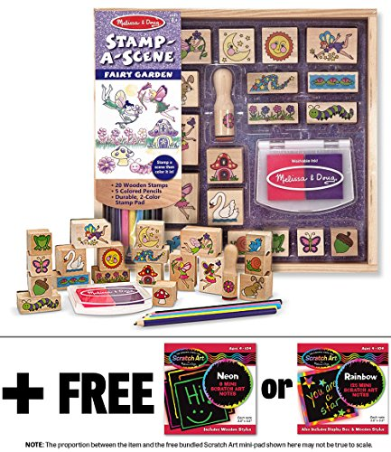 Fairy Garden Stamp Scene Mini Pad