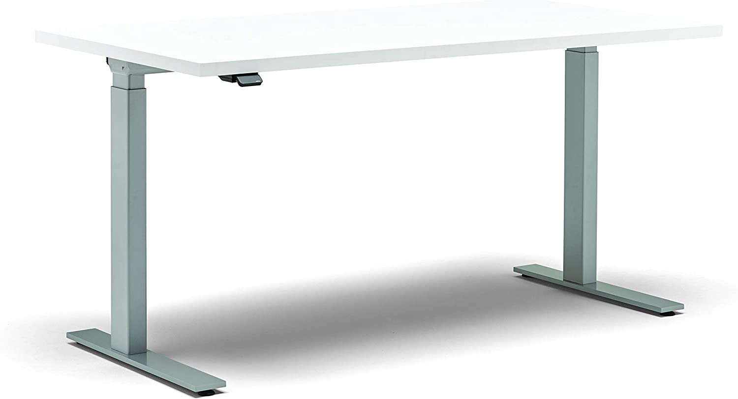 Allsteel Designer White Altitude Series 60W x 30D Rectangular Worksurface with Adjustable A5 C-Base