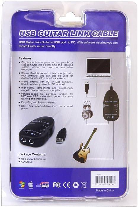 HCL - Cable de Audio USB para conectar Guitarra a Ordenador o Mac ...