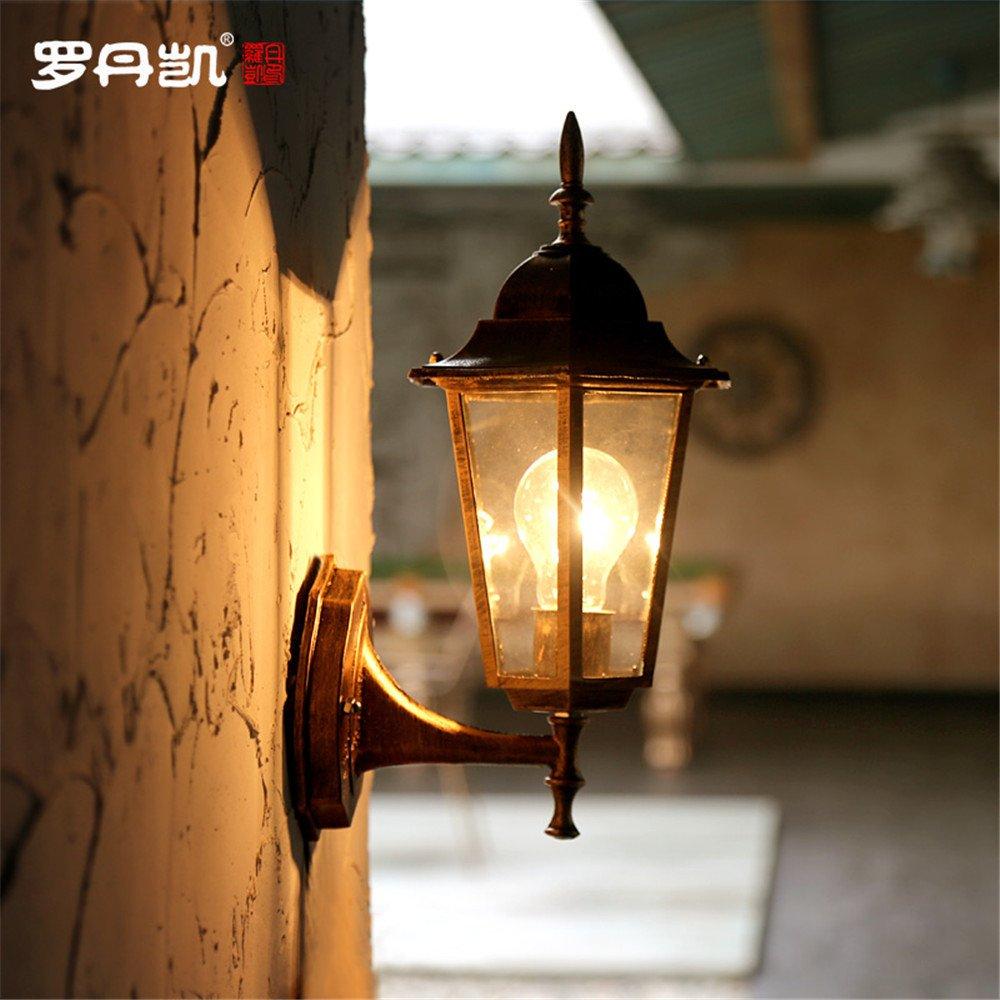 DengWu lampada da parete Colazione continentale in stile americano outdoor luci da parete creative villa cortile esterno lampada illumina mura antiche di Stub impermeabile luci Bar