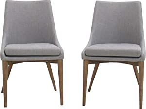 Modern Living Furniture Light Gray Dining Chair (Set of 2)