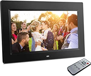 Sonicgrace 10.1 inch Digital Photo Frame LCD Screen Digital Picture Frame, 1024x600 Pixel High-Definition, Automatic Slide Show, Built-in Calendar, Best Gift for Family and Friends, Black