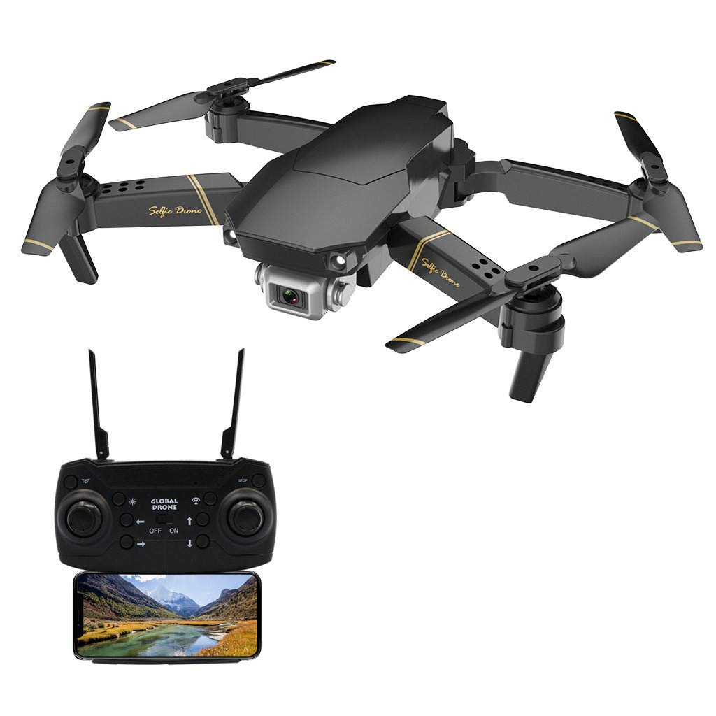 Binory GD89 WiFi FPV 1080P HD Camera Altitude Hold Mode Foldable RC Drone RTF,US Fast Shipment Mini Quadcopter with 3-Level Flight Speed,One Key Automatic Return,Gift Idea for Kids Adults Beginners