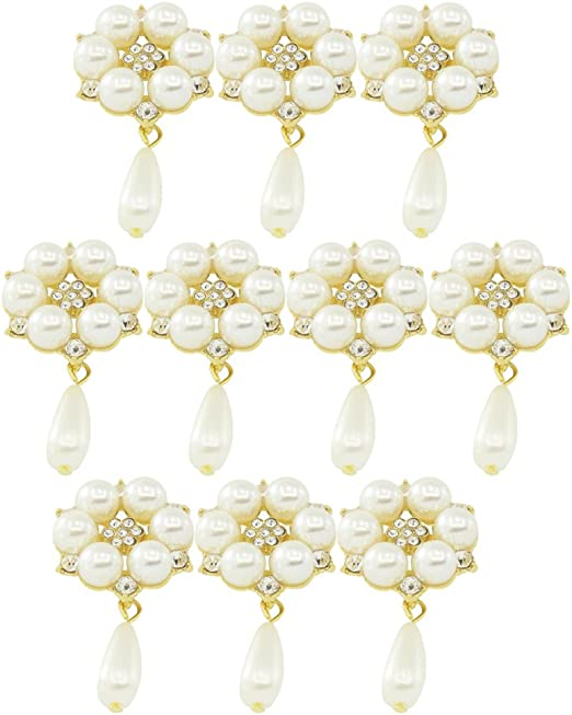 5x Mini Alloy Bee Rhinestone Flatback Deco Buttons for Jewelry Making Crafts