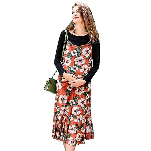Vestidos Ropa premamá Ropa de Maternidad Primavera y otoño Falda ...