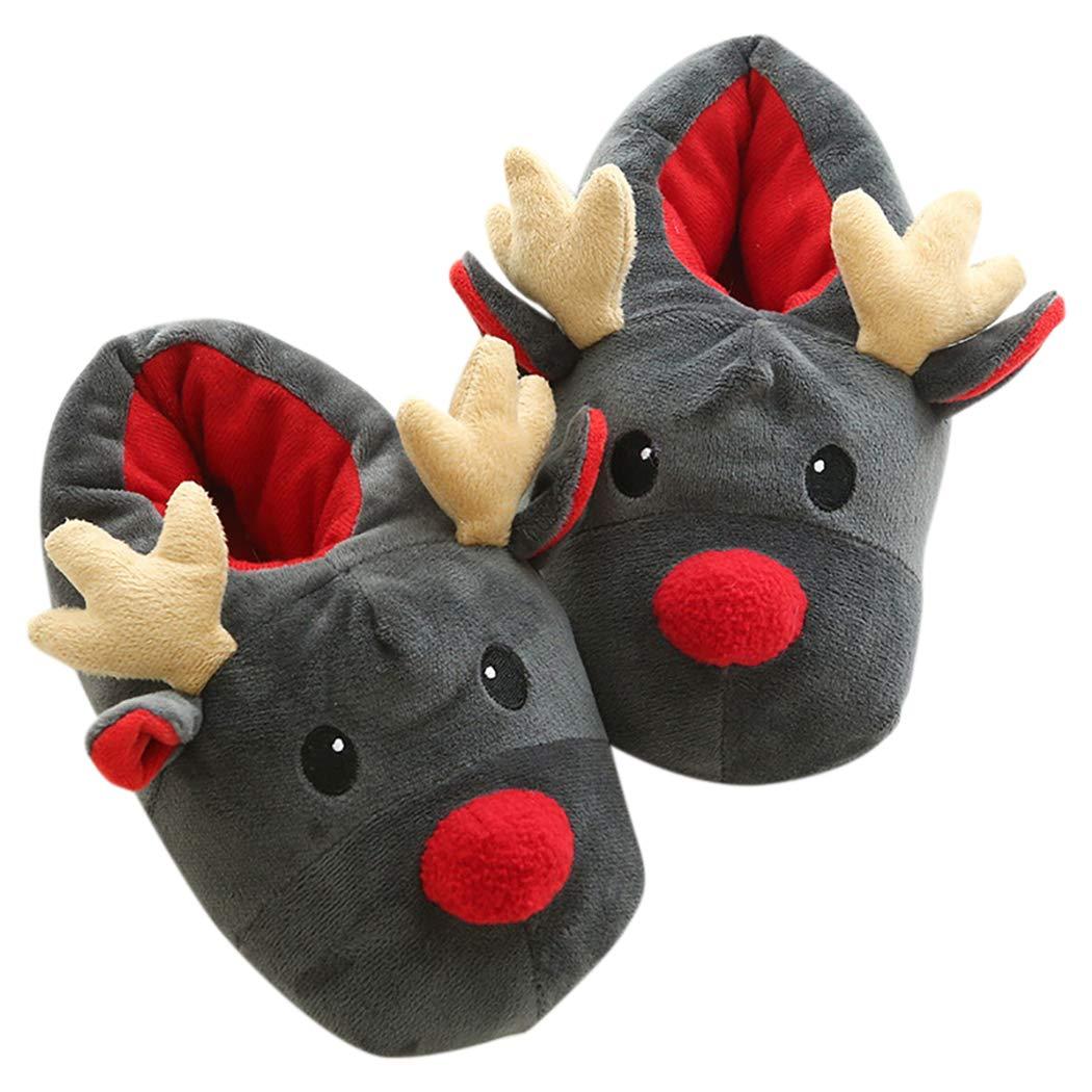 Zoylink Weihnachts Hausschuhe Elch Slip Auf Hausschuhe Indoor Schuhe ...