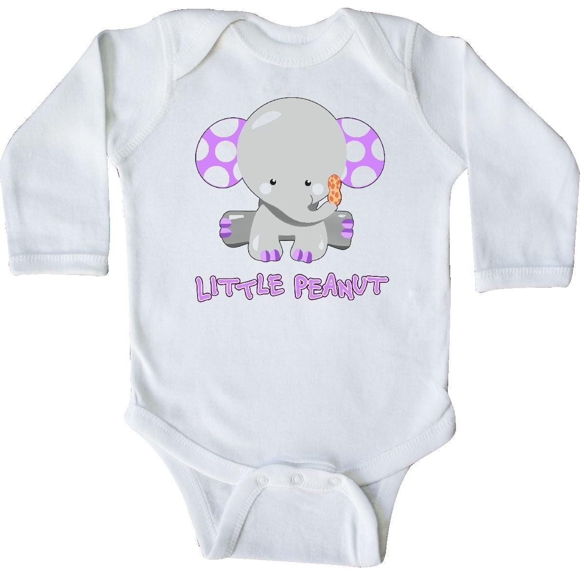 Cute Baby Elephant Long Sleeve Creeper inktastic Little Peanut