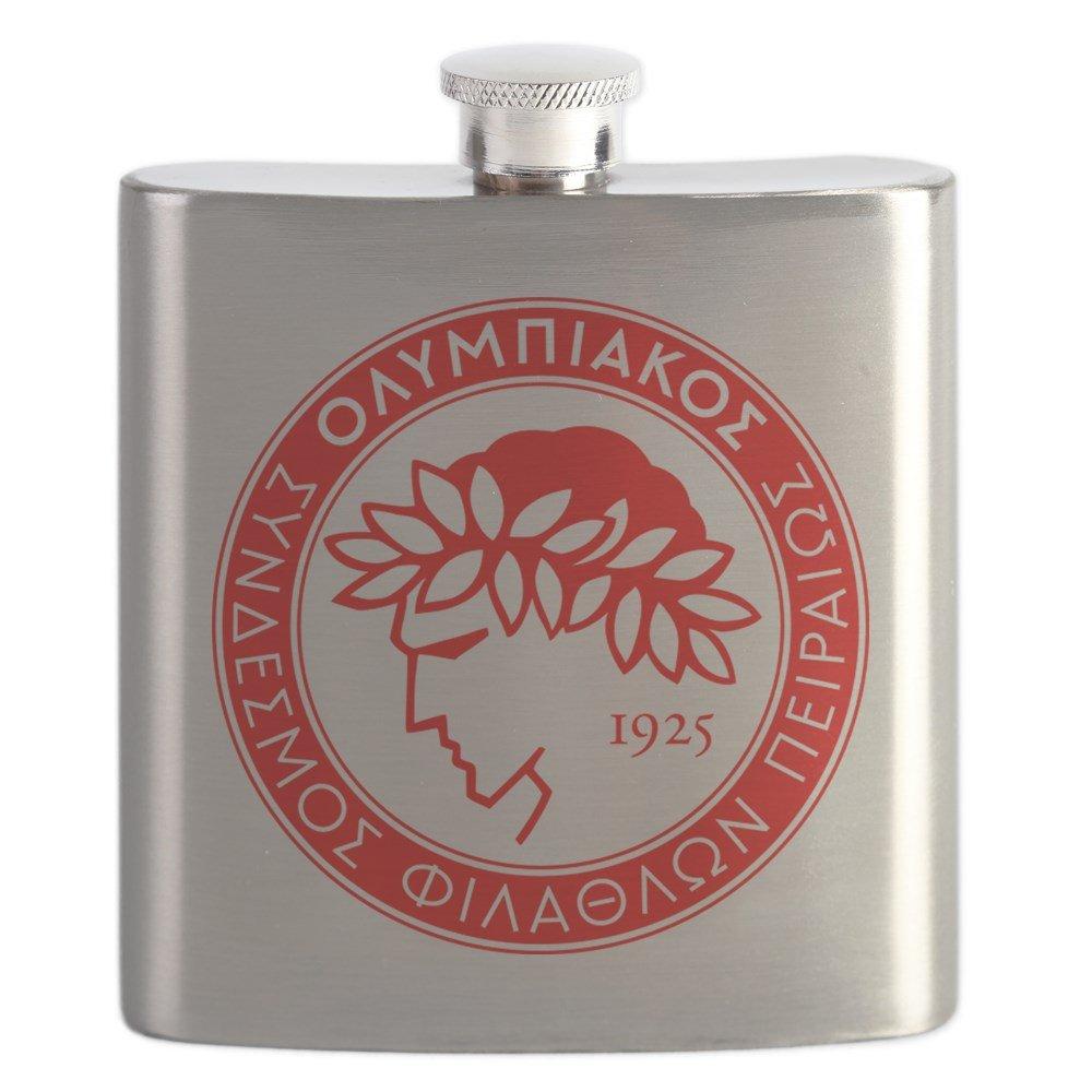 CafePress – Olympiakos – ステンレススチールフラスコ、6オンスDrinkingフラスコ   B01IUF1VPO