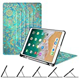 (US) Fintie iPad Pro 10.5 Case with Built-in Apple Pencil Holder - [Multiple Secure Angles] Slim Shell Magnetic Kickstand Protective Cover with Auto Sleep / Wake for Apple iPad Pro 10.5 2017, Shade of Blue