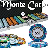 Brybelly Holdings PCS-2604 Pre-Pack - 600 Ct Monte Carlo Chip Set Aluminum Case