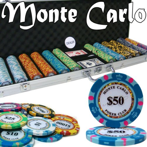 Brybelly Holdings PCS-2604 Pre-Pack - 600 Ct Monte Carlo Chip Set Aluminum - Mall Del Monte