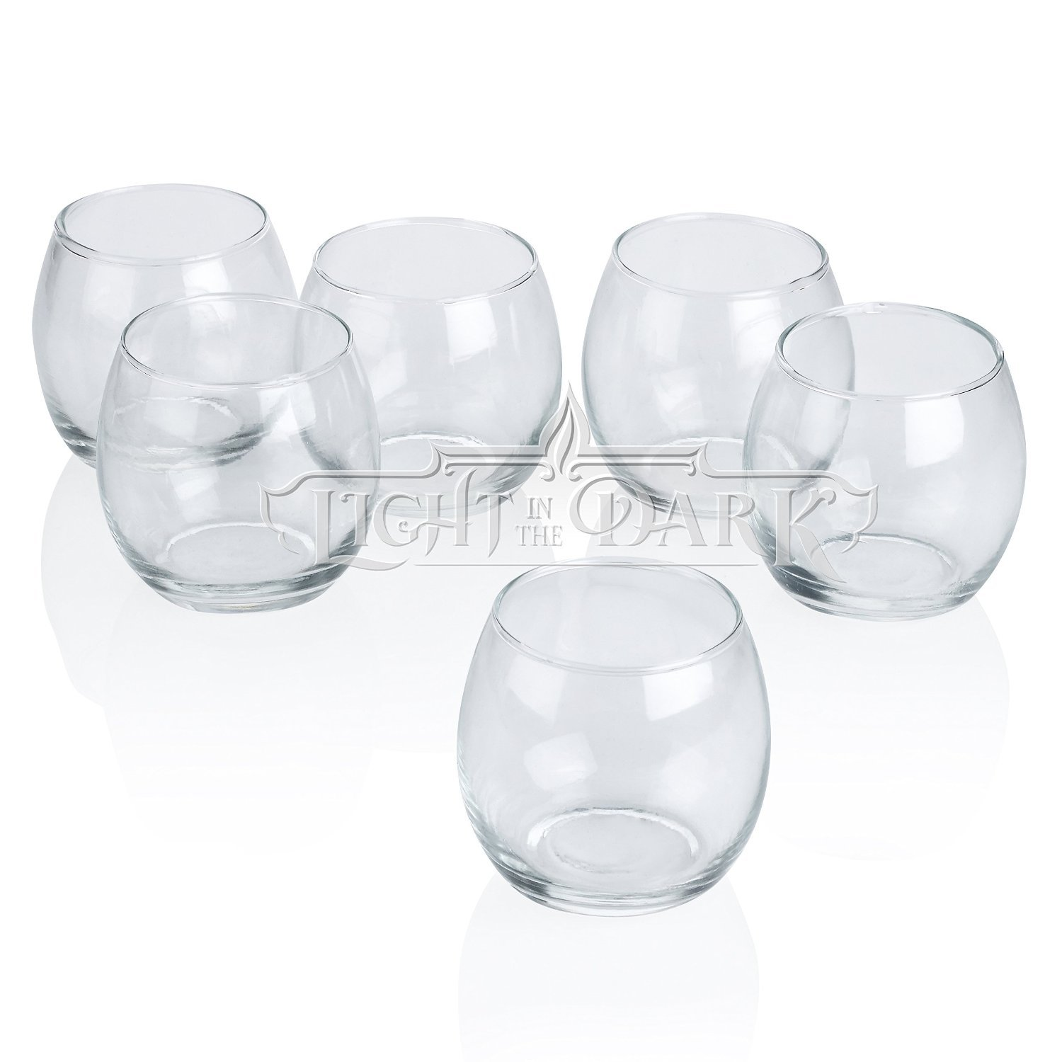 Clear Glass Hurricane Votive Candle Holders Set of 72