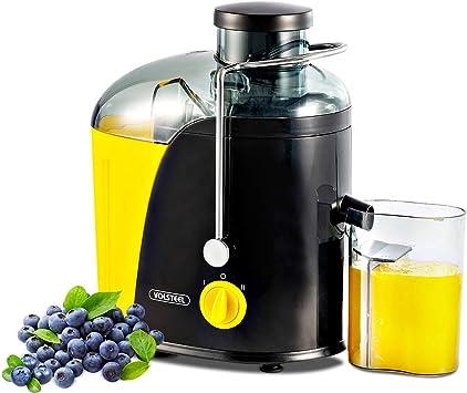 Entsafter Volsteel Zentrifugaler Entsafter mit ProBlend Technologie, Klinge aus rostfreiem Stahl, BPA Frei, und 2 Geschwindikeitsstufen für Gemüse,
