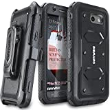 #9: Samsung Galaxy J3 Emerge/J3 Prime/J3 Eclipse/Express Prime 2/Luna Pro/Amp Prime 2/Sol 2 Case, COVRWARE [Aegis Series] Built-in [Screen Protector] Heavy Duty Rugged Holster [Belt Clip][Kickstand] Black