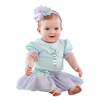 2cf1778e4 Amazon.com : Baby Aspen My First Birthday 3 Piece Party Outfit with Tutu,  Purple/Aqua/Silver, 12-18 Months : Baby