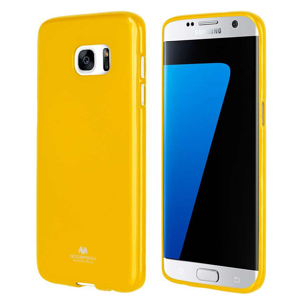 Goospery Marlang Galaxy S7 Edge Case Yellow Samsung Soft Feeling Jelly Black Free Screen Protector Slim Fit Tpu Flexible Pearl Protectoin Bumper