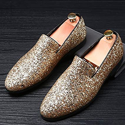 38e1da46bb57 Amazon.com: sandywident Men's Fashion Pointed Toe Diamond Shoes ...