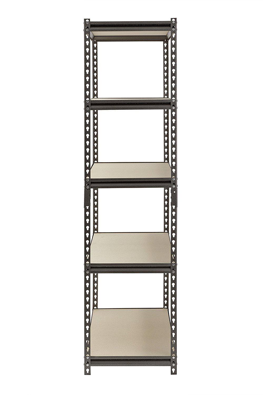 Muscle Rack UR481872PB5P-SV Silver Vein Steel Storage Rack, 5 Adjustable Shelves, 4000 lb. Capacity, 72'' Height x 48'' Width x 18'' Depth (3-Pack) with Towel Cleaner by Muscle Rack (Image #5)