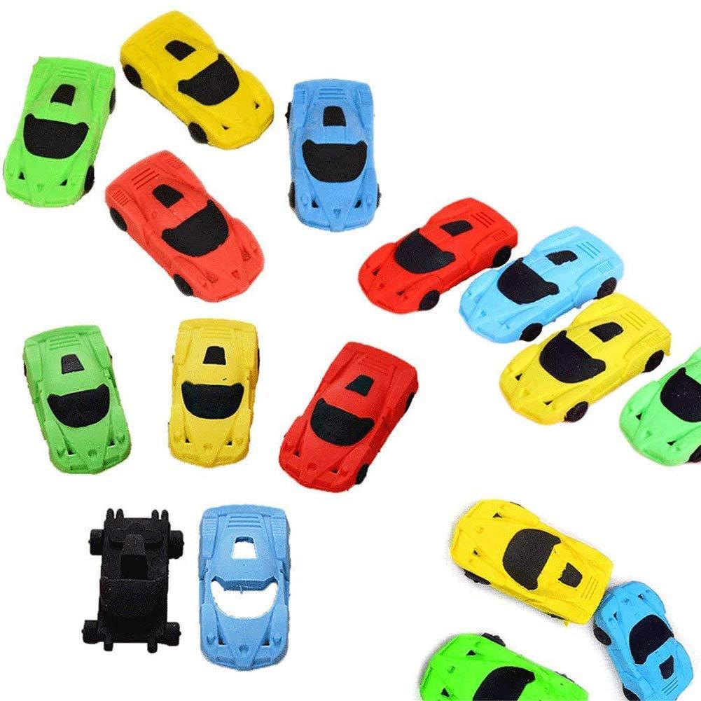 Car Eraser, Pencil Eraser Pocket Toy Party Favors Kids School Office Stationary, Random Color, 24 PCS