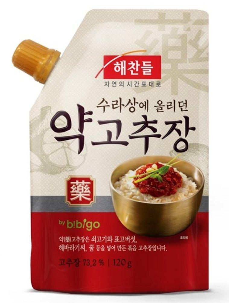 Korean food CJ Haechandle Korean Chili Pepper Paste Gochujang 120g ,수라상 약고추장 Promotional Gifts Party food nutrition sauces