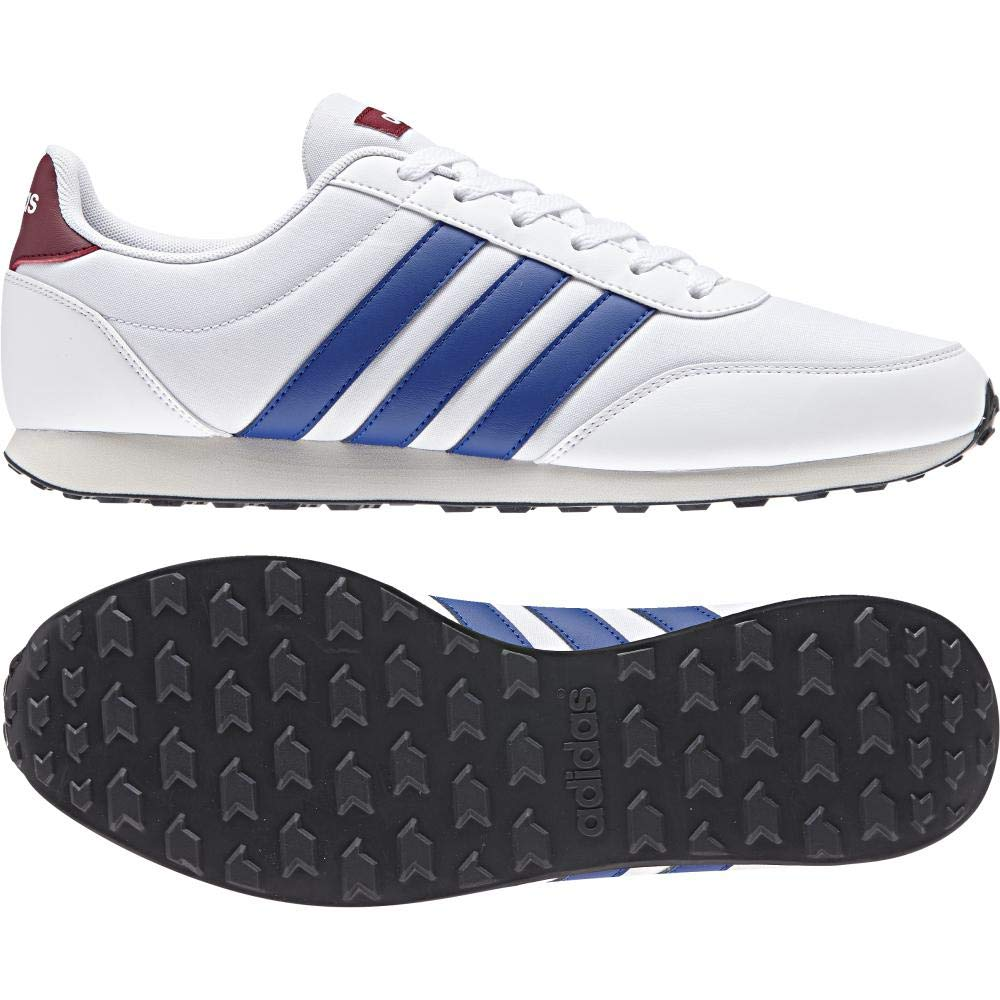 Amazon.com | adidas - V Racer 20 - DB1448 - Color: White-Blue - Size: 9.5 | Fashion Sneakers
