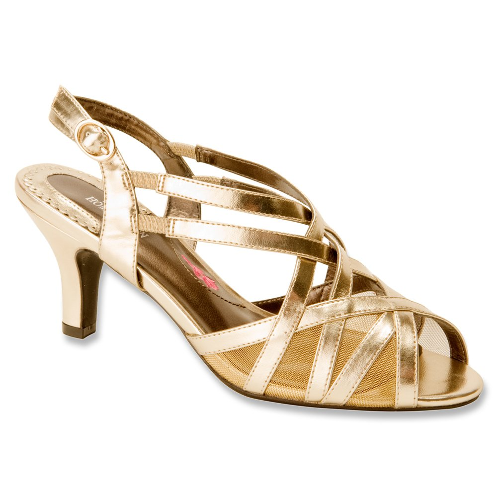 Ros Hommerson Women's Lacey Sandals B00MU3PN4I 9 B(M) US|Gold