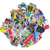 100 Pieces Waterproof Vinyl Stickers for Personalize Laptop, Car, Helmet, Skateboard, Luggage Graffiti Decals (I - section)