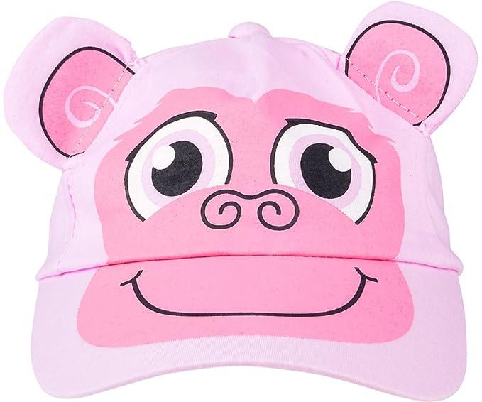 fd4d4d8fcfb37 Amazon.com  Kids Adjustable Pink Monkey Animal Zoo Baseball Cap Hat Costume  Accessory  Clothing