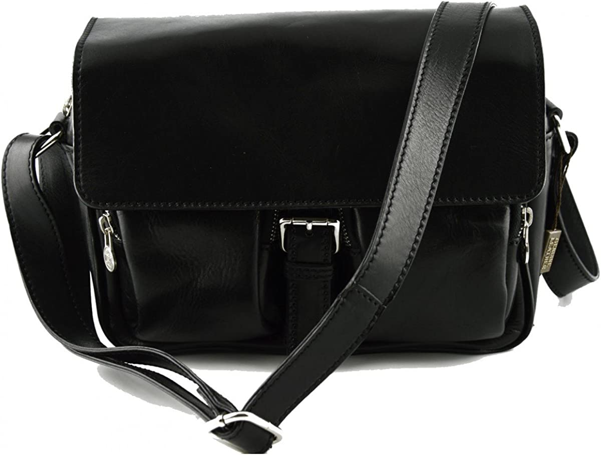 Genuine Leather Crossboby Bag For Women Color Black