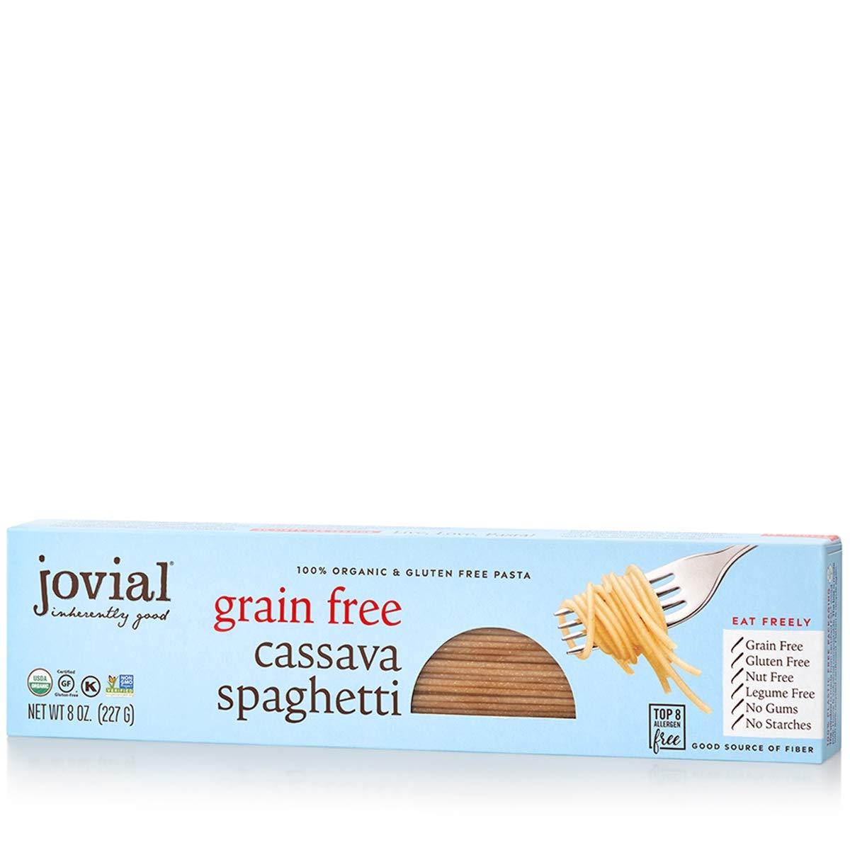 Jovial Grain-Free Cassava Spaghetti | Cassava Pasta | Paleo Pasta | Grain-Free | Certified Gluten-Free | 100% Organic Pasta | USDA Certified Organic | Non-GMO | High-Fiber | 8 oz (1 pack)
