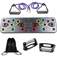 Coriver 13 in 1 Push Up Rack Board met Fitness Bands Draagtas, Opvouwbare Body Building Press Up Board & Resistance…