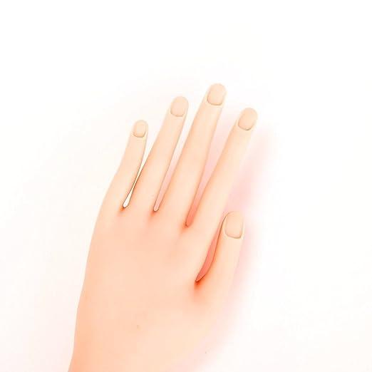 Mano de gel acrílico de Ardisle, para practicar con uñas postizas, ajustable, más de 500 puntas: Amazon.es: Belleza