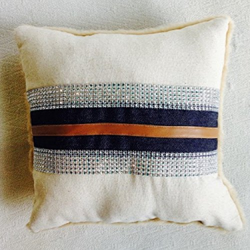 Western Denim & Leather Throw Pillow Set by The Sun*Kissed Home