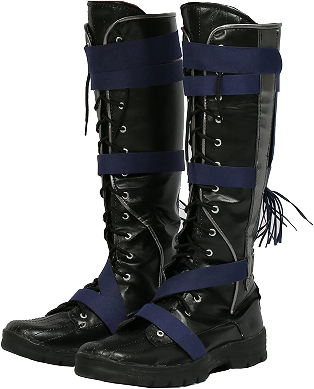 Hot Movie Doctor Cosplay Strange Shoes Black PU Knee Boots